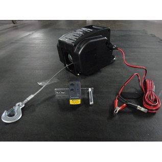 Afstandbestuurbare elektrische lier met accu, accubak en steun 2000 LBS/907 kg
