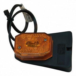 Aspöck flexipoint zijmarkeringslamp oranje op montagevoet