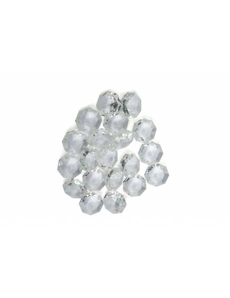 Chandelier glass, octagon, small, 1.2 cm (0.5 inch)