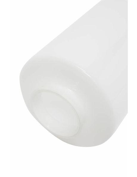 Plafonniere, wit glazen cilinder