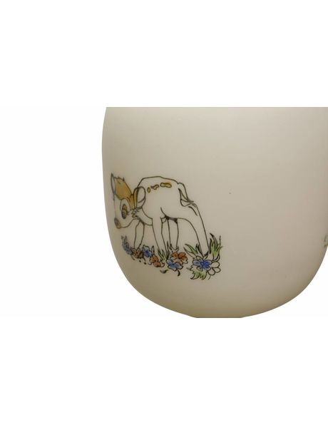 Vintage children's hanging lamp with deer and goose, dates from the 1970s
