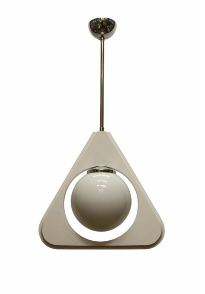Vintage Pendant Lamp, Wooden Triangle