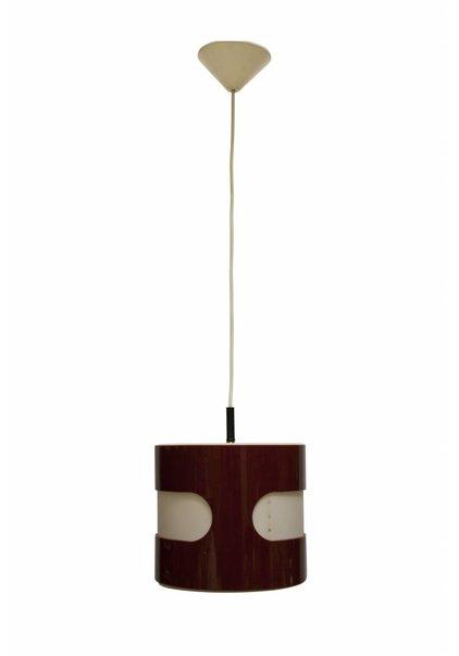 Vintage Hanglamp Rood/Wit Kunststof