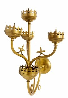 Wall Sconce, Gold Copper, Set