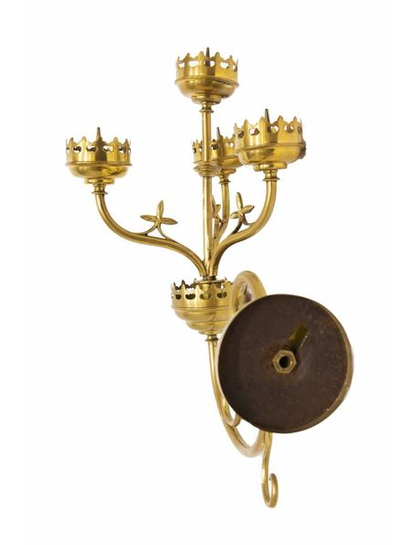 Wall sconces with 4 candles, 1930s