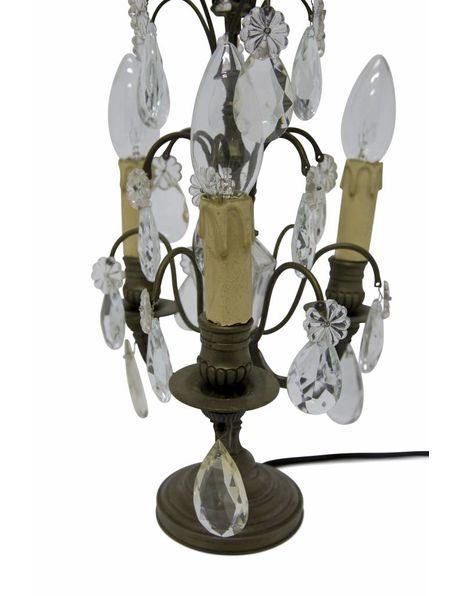 Girandole, Copper Fountain with Crystal Glass Cones, 1930s