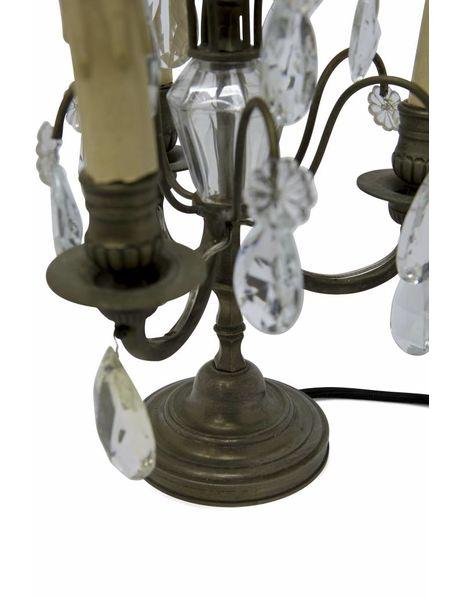 Girandole, koperen fontein met kristalglazen pegels, ca. 1920-30