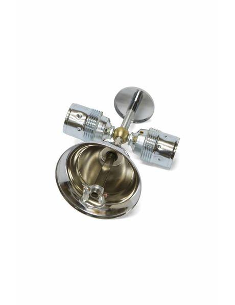 Ophangsysteem voor glazen schalen, zilverkleurig