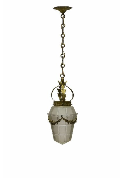 Glass Pendant Lamp on Copper Fixture