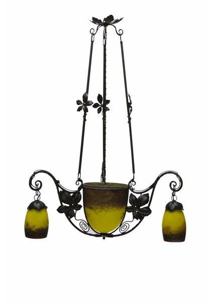 Pendant Lamp, Signed Glass