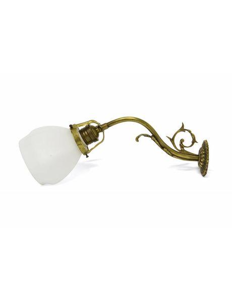 Muurlamp, wit kapje aan col de signe, ca. 1930