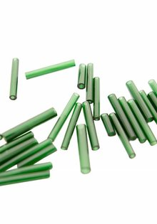 Glass Beads, Bottle Green Colour