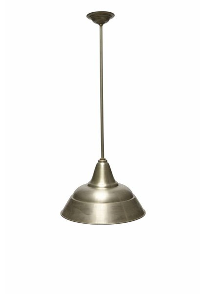 Industrial Lamp, Silver-Coloured Shade