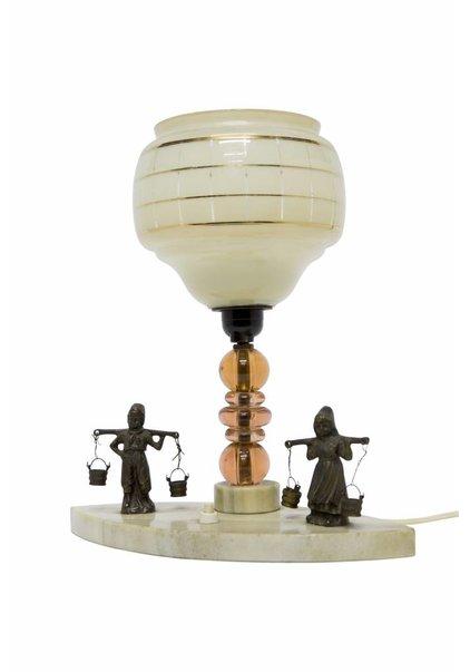 Table lamp: Farmer Couple On Stone