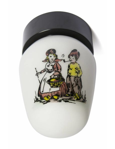 Children's ceiling lamp with a depiction of a farmer and his wife