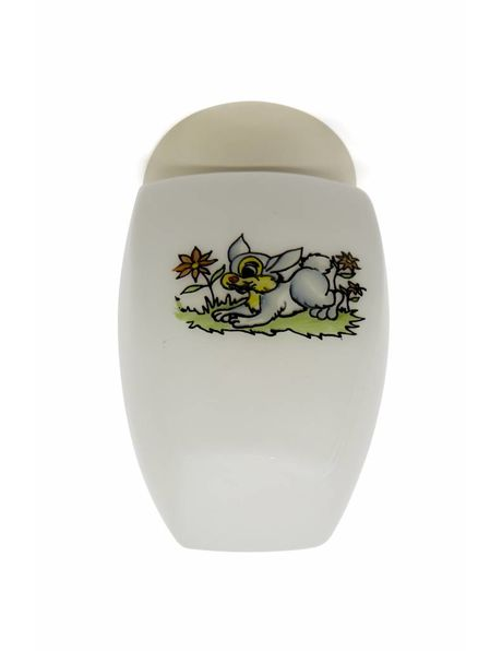 Children's ceiling lamp with a depiction of a rabbit