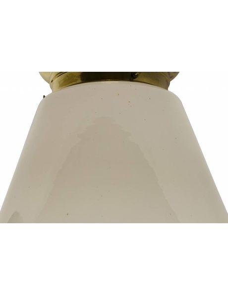Large Ceiling lamp, 1930s, sleek model, whitish glass
