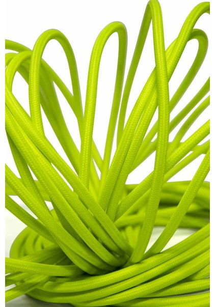Lamp Wire, with Fabric Cover, Colour: Fluor Green