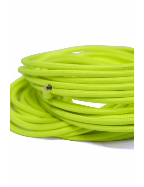 Fluorescent green electrical cord, round, 3 core