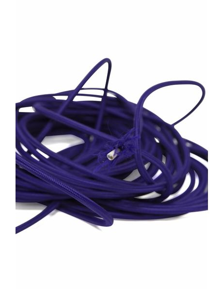 Purple electricity cord, textile cover, 2 core wire