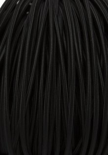 Lamp Wire, Fabric Covered, 3 - Core, Black, Round