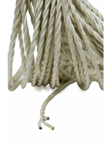 Electricity cord, cloth covered, braided