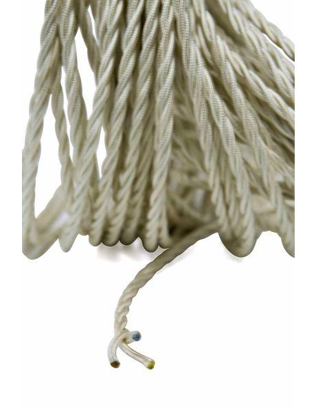 Textielsnoer, wit, gevlochten