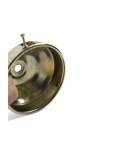 Nippel, M3x1, mat zilverkleur