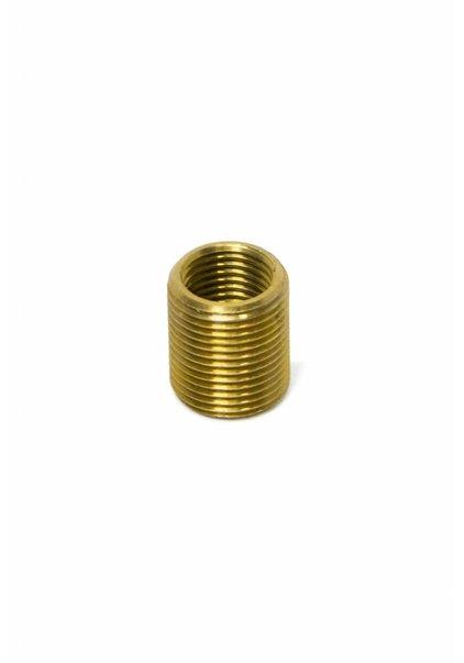 Brass Threaded Pipe, M13 external, M10 internal