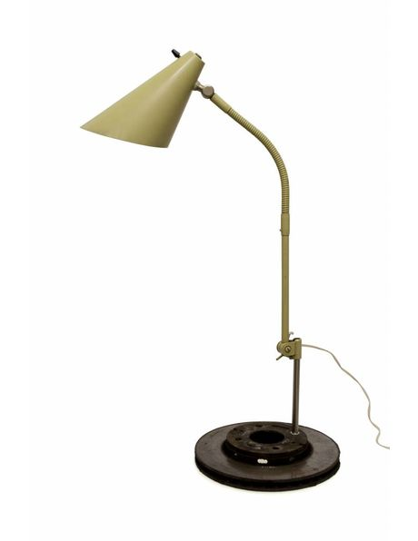 oude bureaulamp, ca. 1950, kan scharnieren