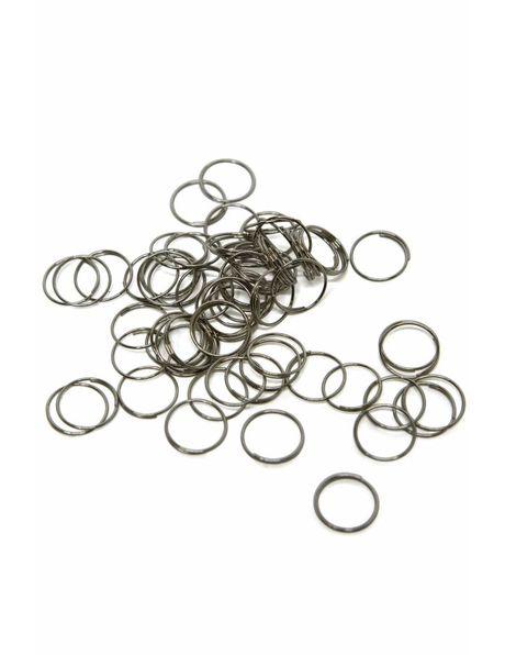 Kroonluchter Ringetje, Zilverkleurig metaal