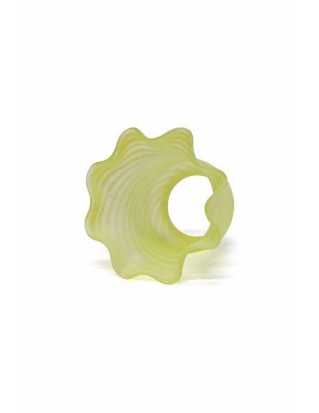 Rokkapje, gedraaid groen glas