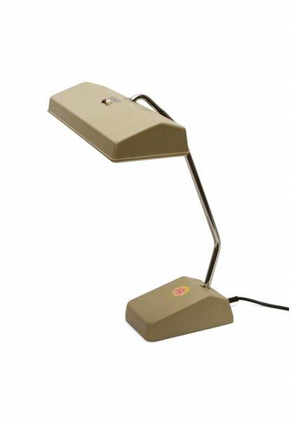 Design Bureaulamp, Licht Bruin Kunststof