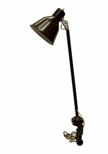 Brown Clip Desk Lamp, Stately, 1940s