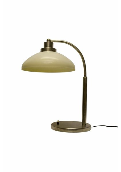 1950s Desk Lamp, Chrome Fixture, Bakelite Shade