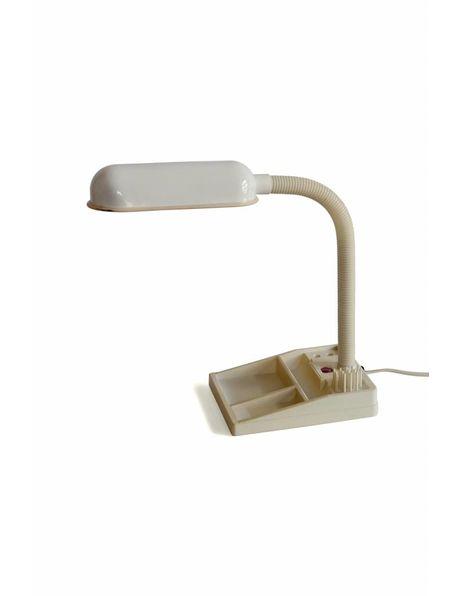 Bureaulamp E-lite met buigarm en paperclip bakje in de voet, ca. 1970