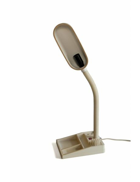 Desk lamp E-lite with bending arm and paperclip tray in the base, 1970s