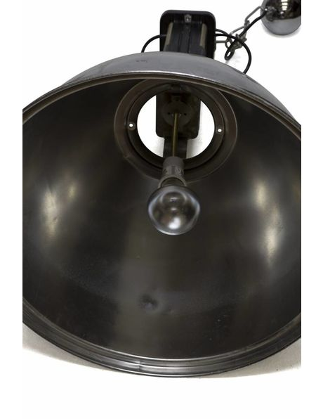 Chrome hanging lamp, brand: Europhane, 1950s