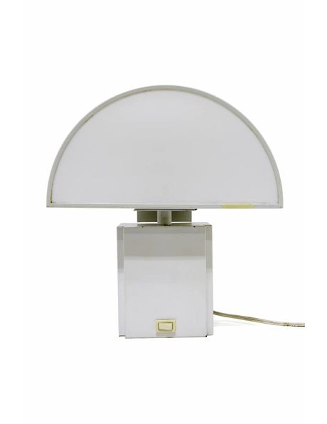Special wall lamp metal fixture with perspex shade, 1960s