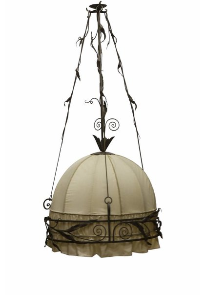 Classic Pendant Lamp with Fabric Inner Shade