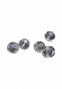 Strass Stones (Round Beads), Chandelier Crystal, Sold per 5 pcs.