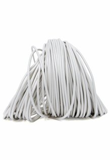 Lamp Wire, White, Round, 2-Core