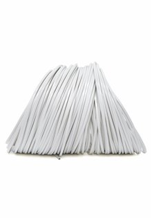 Lamp Wire, White, Flat