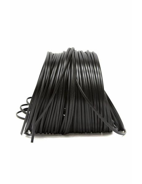 Elektriciteitssnoer zwart, platte uitvoering, 2x 0.75