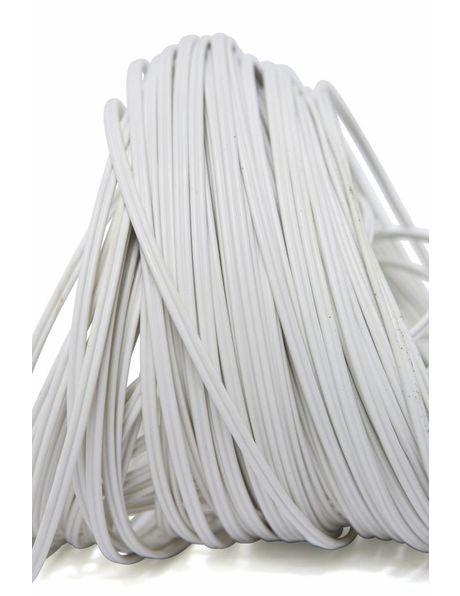 Twin lamp cord, white, 2 x 0.75