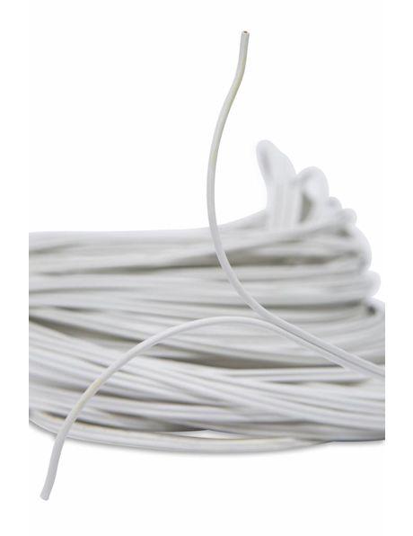 Tweelingsnoer wit, 2x 0.75