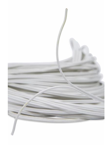 Twin lamp cord, white, 2 x 0.75 (0.3 inch)