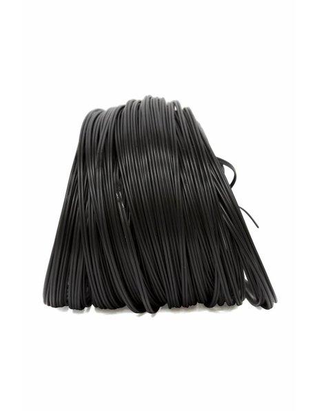 Twin lamp cord, black, 2 x 0.75 (0.3 inch)