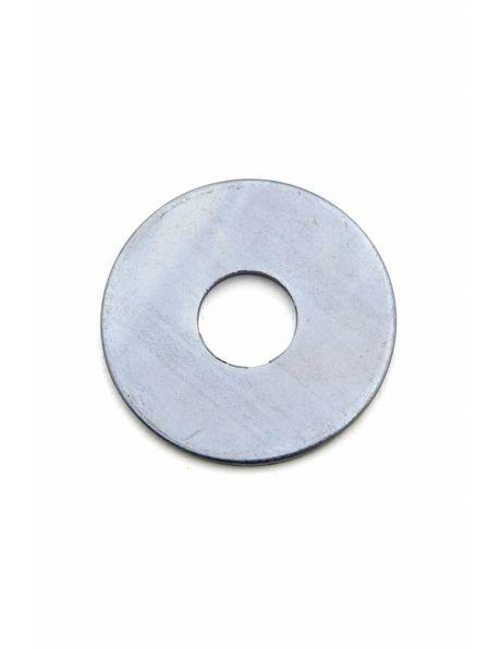 Carrosseriering zilver metaal, 3.7 cm, M13 opening