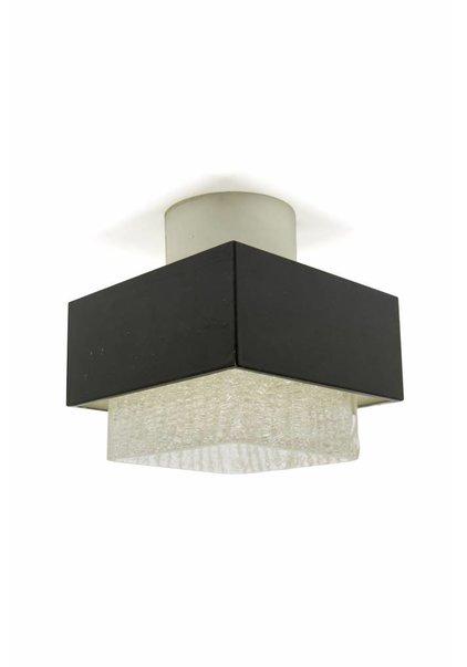 Plafondlamp, Vierkant Metalen Kap